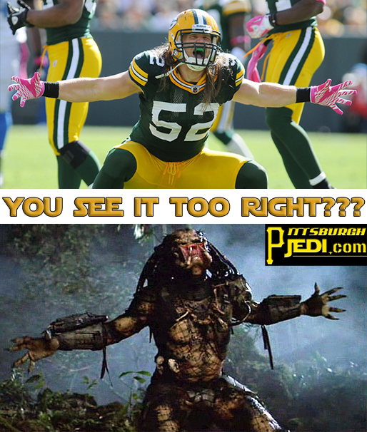 Clay Matthews Is The Predator Im Posting This Every Time
